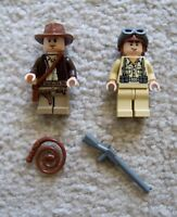 LEGO Indiana Jones - Rare Indiana w/ Whip & German Soldier w/ Rifle - Excellent