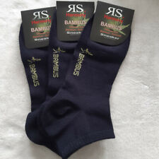3 Pair Women's Sneakers Bamboo Socks With Soft Rim Dark Blue 35 To 42