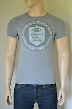 NEW Abercrombie & Fitch Kempshall Mountain Grey Football Champions Tee T-Shirt S