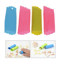 4pcs Magic Silicone Garlic Peeler Peel Easy Useful Kitchen Cooking Tool TS