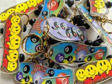 Set of 3 Vintage 90's Skateboard Keychains YING YANG SMILEY BILLIARD 8 BALL