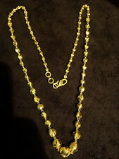 Classy Handmade Chain Necklace Earrings Set In Solid Certified 22K Yellow Gold