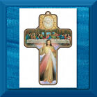 Picture Cross on Wood Divine Mercy Last Supper GREAT DETAIL New Item!