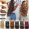 """20""""Synthetic Long Wavy Curly One Piece Hair Extensions 3/4Full Head Clip in Hair"""
