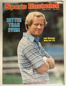 Jack Nicklaus Sports Illustrated Magazine 3/27/1978 No Label Golf Masters Major