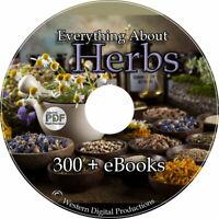 300+ eBooks Herbal Natural Medicinal Remedies Healing Plants Culinary Herbs