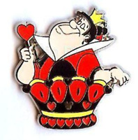 Disney Pin 59816 DLR Hidden Mickey Alice In Wonderland Chess Queen Hearts A1