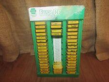 Vintage Napa Fuses Display Case 3/4 Full of Fuses #1135