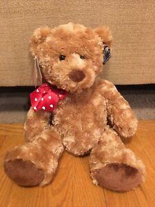 "NWT Applause Russ Bertie Animal Bear Valentine Plush Stuffed Toy 49262 15"" Soft"