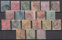 C2828/ BRITISH JAMAICA – VICTORIA – 1870 / 1911 USED CLASSIC LOT – CV 185 $