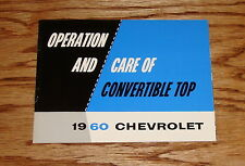 1960 Chevrolet Convertible Top Operation and Care Manual 60 Chevy