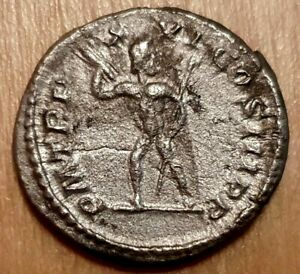 Roman Empire Silver Denarius Septimius Severus Jupiter Thunderbolt RSC 501