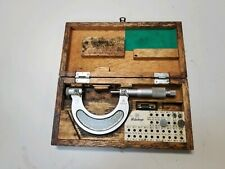 Mitutoyo 1 2 Thread Pitch Micrometer No 126 138a With Some Anvils
