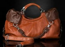 Noble Bags Grande Calina Toscana & Dark Brown Damen XL Lederhandtasche *UVP 199€