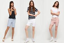 Camisa para mujer de tela de algodón pantalones cortos de ciudad