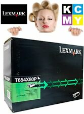 Lexmark Genuine/Original Laser Printer Toner Cartridge T654X80P T654/T656 *NEW*