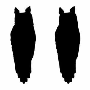 Qty 2 Owl Window Stickers, Anti Bird Strike Window Decal Pack S Any Colour