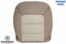 2005 Ford Expedition-DRIVER Side Bottom PERFORATED Leather Seat Cover 2-TONE TAN