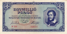 1MILLION PENGO FROM HUNGARY 1945 VF+ BANKNOTE!PICK-122