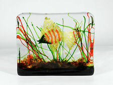 CENEDESE Murano Glas Aquarium ° Design Alfredo Barbini 50/60er Jahre
