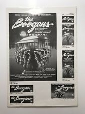 BOOGENS Pressbook 1981 4 Pages 10x14 Movie Poster Art Horror Sci-Fi 1128