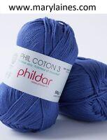 Pelote Phildar Phil Coton 3 outremer neuve