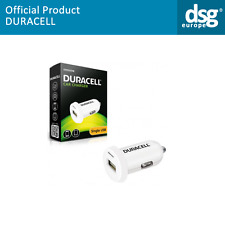 DR5020W GENUINE DURACELL USB CAR CHARGER 12V DC, OUTPUT DC 5V - 2.4A - WHITE
