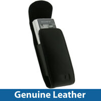 Black Genuine Leather Case For Sony ICD B600 Digital Dictaphone Cover Holder