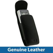 Black Leather Case Cover for Sony ICD-B600 & ICD-TX650 Dictaphone Cover