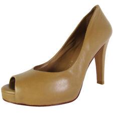 Wedge 100% Leather Geometric Heels for Women