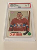 1969 Topps Gump Worsley #1 Hockey Card PSA 8 NM-MT Canadiens Nice!