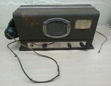 Antique ww2 jefferson-travis radio telephone model 100a rare