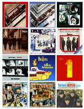 BEATLES ALBUM  COVERS ( SET 1 & 2 OF 4) PHOTO-FRIDGE MAGNETS  SET OF 24