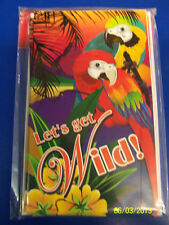 Tropical Birds Summer Luau Beach Theme Birthday Party Invitations w/Envelopes