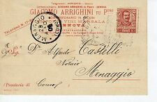 52623 CARTOLINA 1905 GENOVA ARRIGHINI SALUMI VINO MARSALA PUBBLICITÀ ADVERTISING