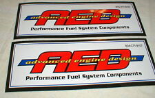"""2 AED Racing  Decals Stickers 9 1/2"""" Long X 3 1/2"""" Tall NASCAR NOS"""