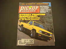 Pickup Van & 4WD Magazine March 1984 Toyota EFI Extracab S-15 Road Runner M2609