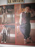 8567 UNCUT Vintage Simplicity SEWING Pattern Boys Pants Shirt Vest Tie Church FF