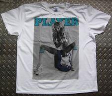 Sexy blonde chauds Guitar rocker mariée rock star player pin up wow t-shirt xl