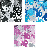 Black Pink Blue Birthday Party Glitz Table Confetti Sprinkles Decorations