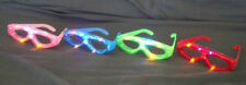 4 pcs Flashing Eyeglasses Assort Color LED Light Up Blinking Novelty Eye Glasses