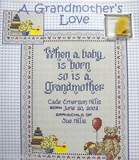 A Grandmother's Love (Nursery Sampler) - Cross Stitch CHART Plus FREE DUCK CHARM