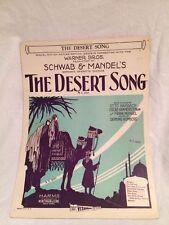1929 - Warner Brothers Movie - The Desert Song Sheet Music