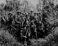 B&W Photo US Marines Bouganville 1944 WWII WW2 World War Two USMC Pacific