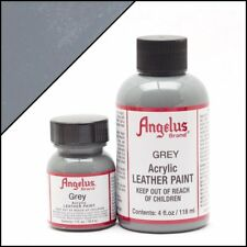 Angelus Grey acrylic leather paint / Dye 4 oz bottle for Shoes Bags Boots