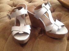 FRANCO SARTO WHITE WEDGES SHOES  Size: 9 M