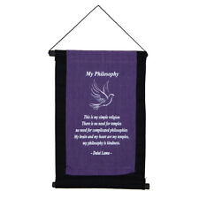 """Fair Trade Quotation Scroll Wall Hanging """"My Philosophy"""""""