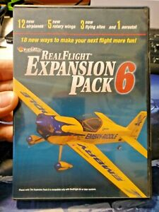 DVD REAL FLIGHT EXPANSION PACK 6 - Great Planes 12 airplanes 5 Rotary Wings ecc