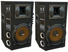 "😍 COPPIA CASSE AMPLIFICATE ATTIVE DJ 800W 10"" 26 cm karaoke BLUETOOTH + USB 😍"