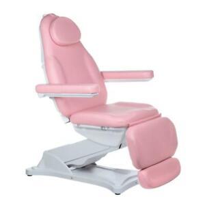 Kosmetikliege Rosa  Massageliege Kosmetikstuhl Beautyliege Elektrisch Pediküre